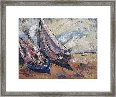 Framed Print featuring the painting Sail Boats by Debora Cardaci