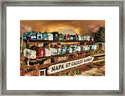 Sailors Mailbox Framed Print
