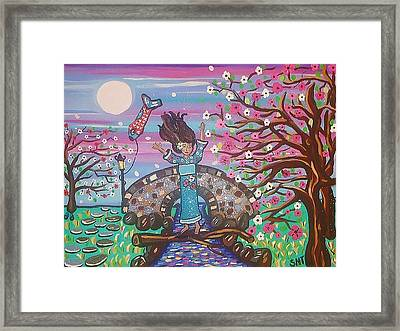Sakura Dreams Framed Print by Stephanie Temple