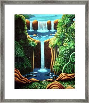 Saltwater Falls 3 Framed Print by Barbara Stirrup