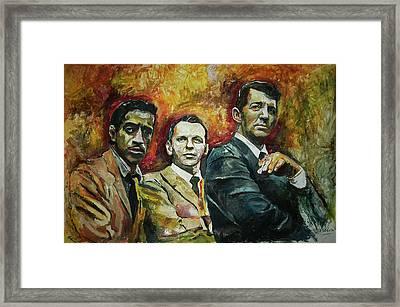 Sammy, Frank And Dean Framed Print
