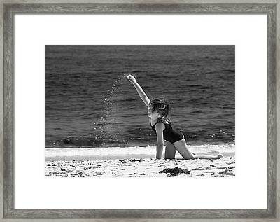 Sand Dancer Framed Print by Michelle Wiarda