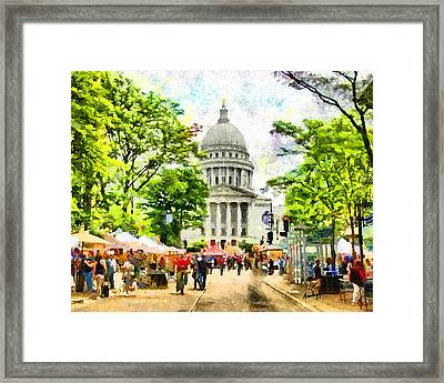 Saturday In Madison Framed Print by Anthony Caruso