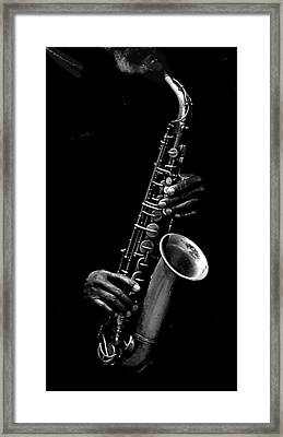 SAX Framed Print by Kenneth Mucke