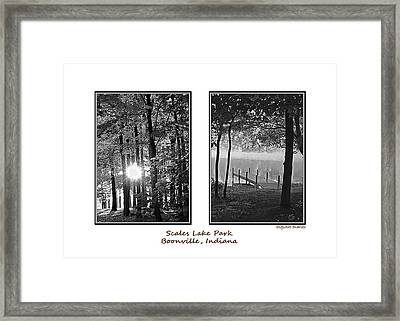 Scales Lake Park Collage Framed Print