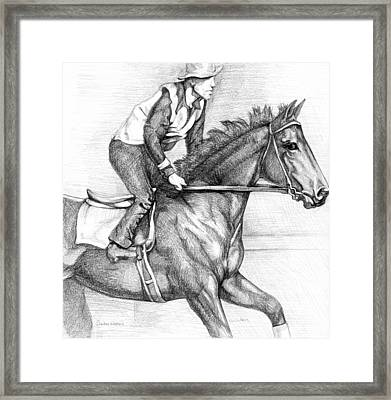 Seabiscuit With Woolf Up Framed Print