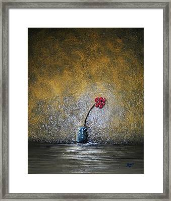 Framed Print featuring the painting Seclude  by Edwin Alverio