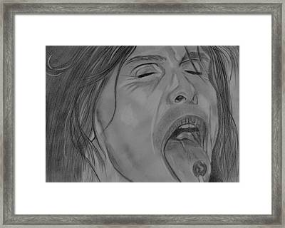 Framed Print featuring the drawing Sexy Steven Tyler Portrait by Jeepee Aero