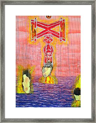 Shango Framed Print by Duwayne Washington