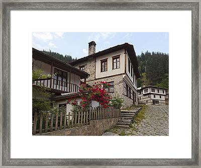Shiroka Laka Village Framed Print