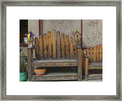 Framed Print featuring the photograph Sit With The Birds by Tammy Sutherland