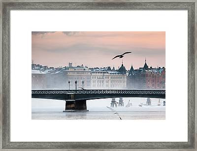 Skeppsholmsbron, Stockholm Framed Print