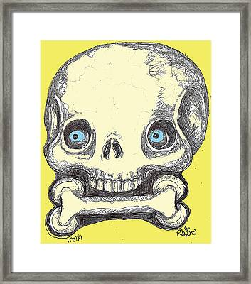 Skullnbone Framed Print by Robert Wolverton Jr