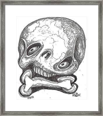 Skullnbone Twisted Framed Print