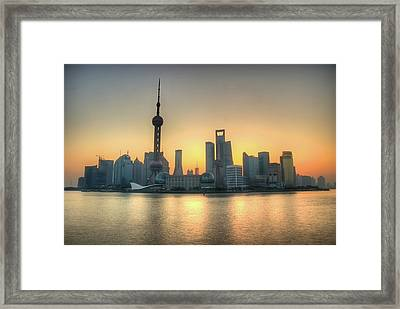 Skyline At Sunrise Framed Print