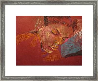 Sleeping Figure  Framed Print by Julie Orsini Shakher