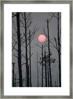 Smokey Sunset Framed Print