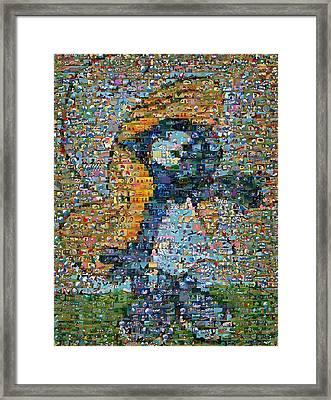 Smurfette The Smurfs Mosaic Framed Print by Paul Van Scott