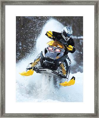 Snocross Framed Print by Wade Aiken