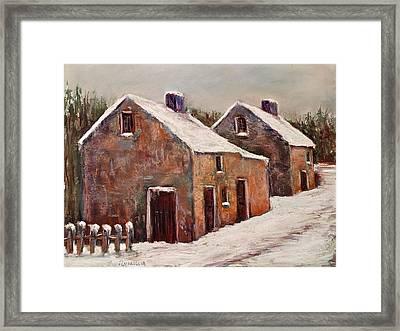Snow Fall In Ireland Framed Print by Joyce A Guariglia