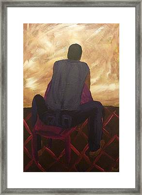 Framed Print featuring the painting Solitude by Joshua Redman