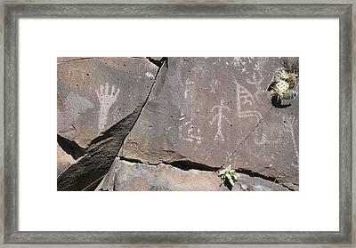 South Fork Petroglyphs Framed Print