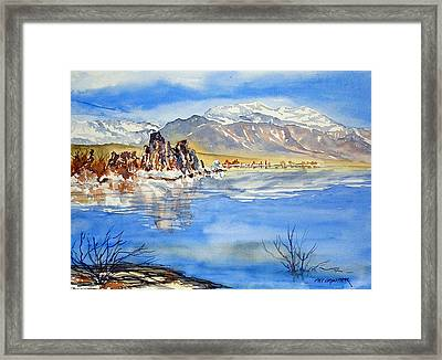 Framed Print featuring the painting South Tufa by Pat Crowther