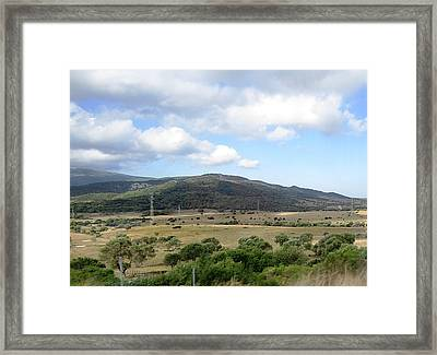 Spain Country Side Near Costa Del Sol Framed Print by John Shiron