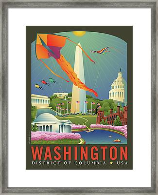 Spring In Washington D.c. Framed Print by Joe Barsin