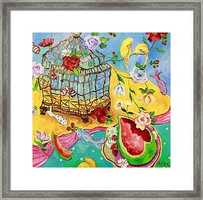 Springtime Romance Framed Print