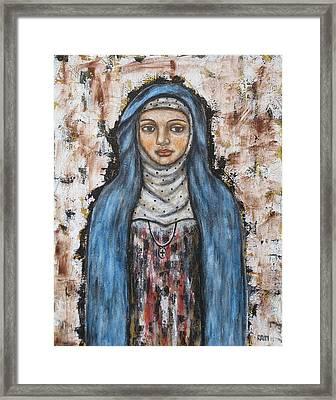 St. Monica Framed Print by Rain Ririn