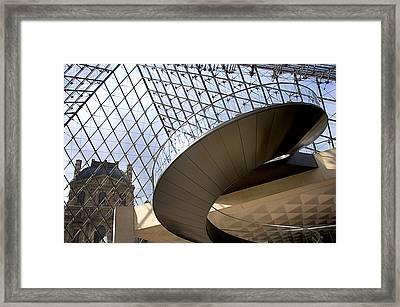 Stairs In Louvre Museum. Paris.  Framed Print by Bernard Jaubert