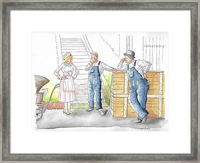 Stan Laurel And Oliver Hardy In The Music Box, 1932 Framed Print