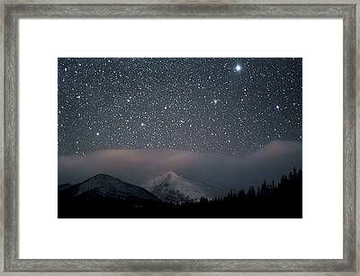 Stars Over Rocky Mountain National Park Framed Print
