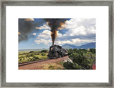 Steaming Towards La Veta Framed Print