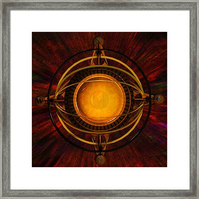 Steampunk Navigator Framed Print