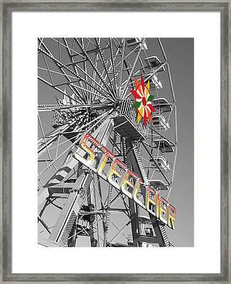 Steel Pier Framed Print by Heather Weikel