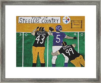 Steelers Country Framed Print by Jeffrey Koss