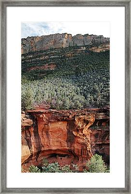 Step-in-the-wall Ruins Framed Print by David Sunfellow