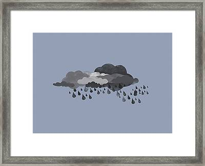 Storm Clouds And Rain Framed Print