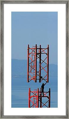 Strong Man Framed Print by Jean-Michel Ammon