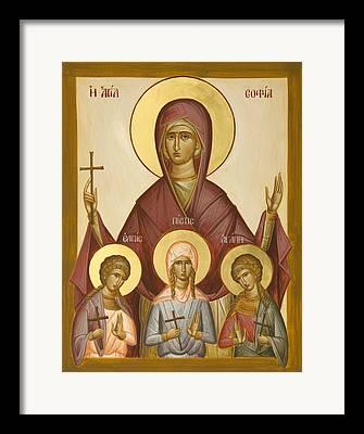 Sts Sophia Faith Hope And Love Framed Prints