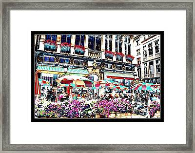 Sunny Day On The Grand Place Framed Print