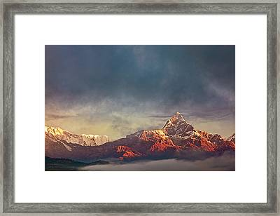 Sunrise On Anapurna Framed Print
