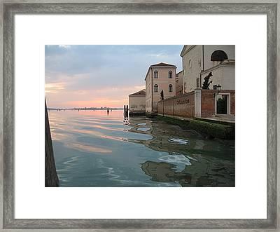Sunrise On Isola Di San Clemente Venice Framed Print by Harry Mason