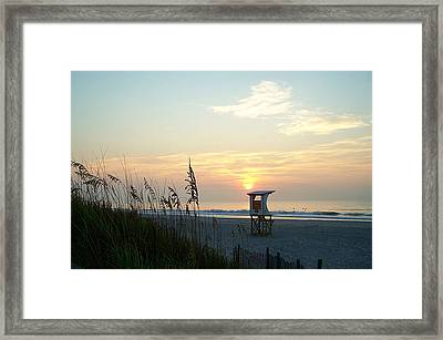 Sunrise Over Wrightsville Beach Framed Print