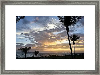 Sunset - Fort Myers Florida Framed Print