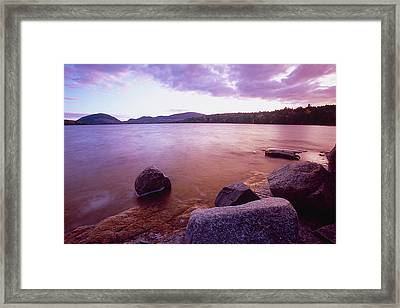 Sunset Afterglow At Eagle Lake Framed Print by George Oze