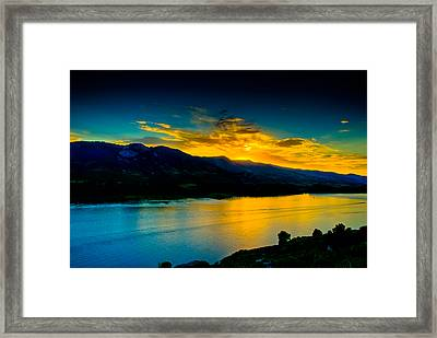 Sunset At Horsetooth Reservoir Framed Print