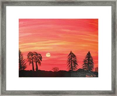 Sunset Glow Framed Print by Jeannie Atwater Jordan Allen